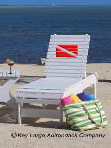 Outdoor Patio Chaise Lounge - Dive Flag