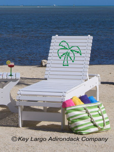 Outdoor Patio Chaise Lounge - Palm Tree