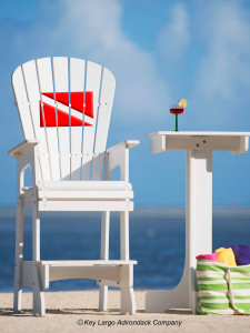 Outdoor Patio Lifeguard Chair - Dive Flag