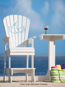 Outdoor Patio Lifeguard Chair - Dove