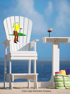 Outdoor Patio Lifeguard Chair - Golfer