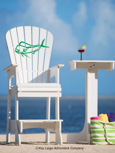 Outdoor Patio Lifeguard Chair - Mahi Outline- JM Design