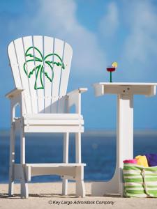 Outdoor Patio Lifeguard Chair - Palm Tree