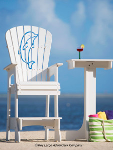 Outdoor Patio Lifeguard Chair - Porpoise Happy