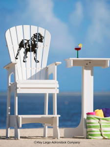 Outdoor Patio Lifeguard Chair - Rottweiler