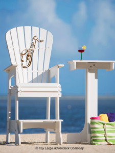 Outdoor Patio Lifeguard Chair - Saxophone