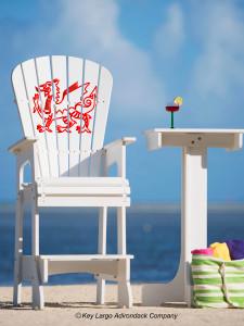 Outdoor Patio Lifeguard Chair - Welsh Dragon