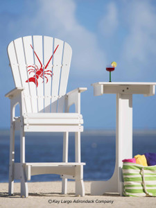 Outdoor Patio Lifeguard Chair - Lobster