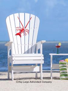 Lobster design outdoor patio Lifeguard Chair