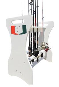 University of Miami Fishing Rod Holder