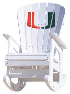 University of Miami Rocking Chair