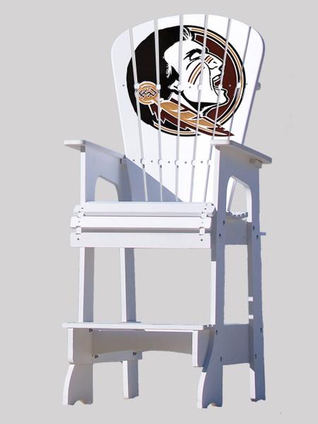 Outdoor Patio Lifeguard Chair   Florida State University Seminoles   Key  Largo Adirondack Company