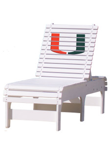 University of Miami Hurricanes Chaise Lounge