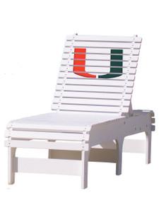 University of Miami Hurricanes Chaise Lounge