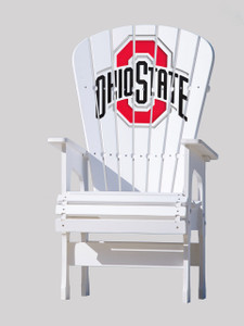 Ohio State University - High Top outdoor patio chair.