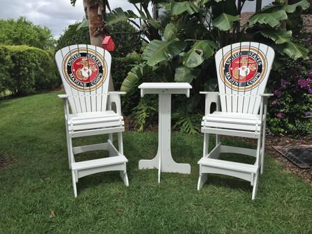 Marine Corps Lifeguard chairs - Key West Set