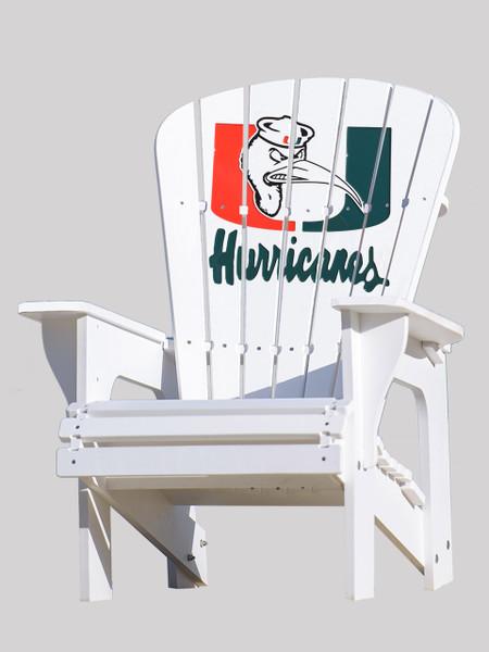 University of Miami Hurricanes Adirondack Chair