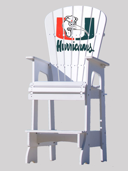 University of Miami Hurricanes Lifeguard Chair with Ibis