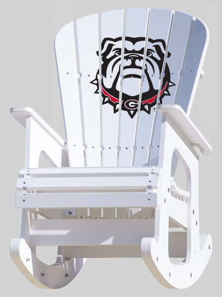 University of Georgia Bulldogs Rocking Chair with Bulldog