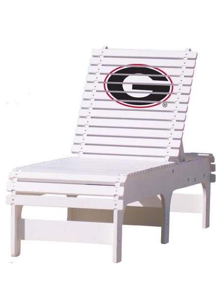 "University of Georgia ""G"" - Chaise Lounge"