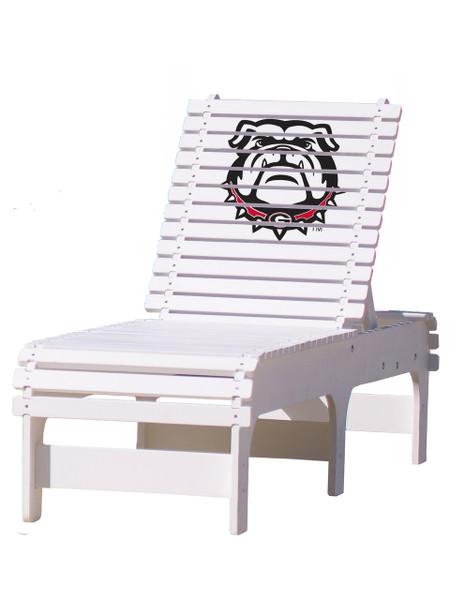 "University of Georgia ""Bulldog"" Chaise Lounge"