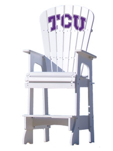 Texas Christian University Lifeguard Style Chair