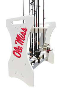 Ole Miss Fishing Rod Holder
