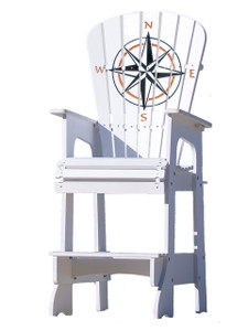 Compass Rose Lifeguard Style Chair
