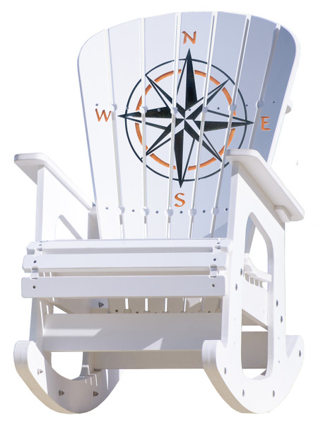 Compass Rose Rocking Chair