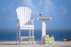 Outdoor Patio Lifeguard Chair - Classic White