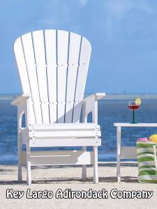 High Top Patio Chair - Classic White