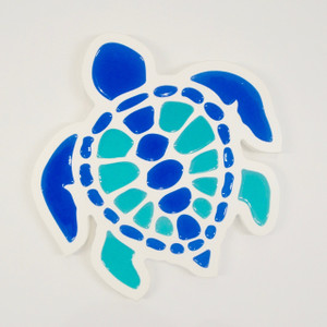 Multi Colored Turtle Wall Plaque - Large