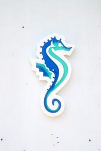 Small Seahorse Plaque