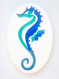 Oval Seahorse Plaque