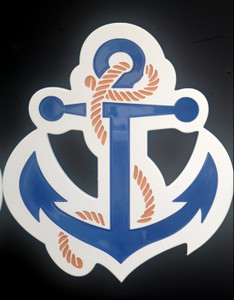 Anchor With Rope Wall Plaque - Large