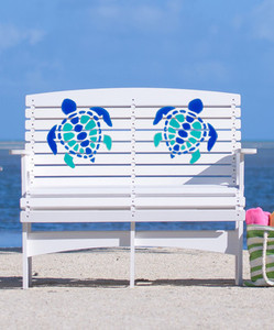 Patio Bench - MultiColor Turtle