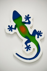 Multicolor Gecko Wall Plaque