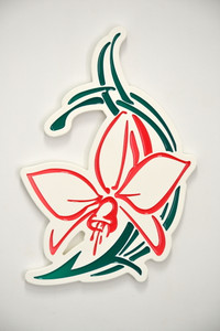 Orchid Wall Plaque