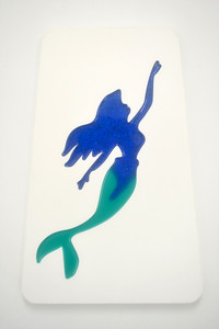 Swimming Mermaid Wall Plaque