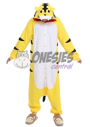 2af69b7bef5d Home · Adult Onesies  Yellow Tiger Onesie. Image 1