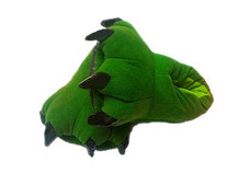 Animal Soft Plush Green Slipper