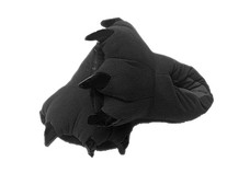 Animal Soft Plush Black Slipper