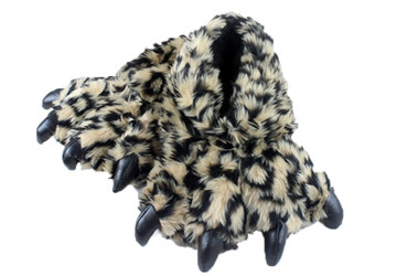 Animal Soft Plus Leopard Slipper  Complete your onesies collection by purchasing the animal soft plus slipper to keep your feet warm in the winter season.