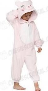 Kids Pink Pig Onesie