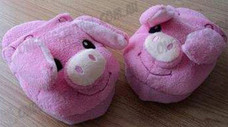 Pink Pig Animal Airbag Slipper