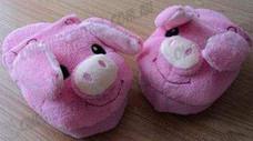 Pink Pig Animal Airbag Slipper