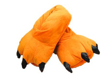 Animal Soft Plush Orange Slipper