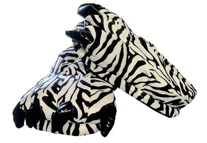 7f490a9d65b1 Animal Soft Plush Zebra Slipper - Onesies Central