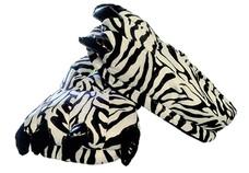 Animal Soft Plush Zebra Slipper