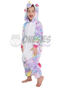 Kids Star Print Unicorn Onesie